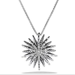 David Yurman Starburst Diamond Pendant w/ Chain
